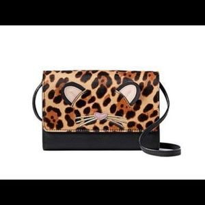 KATE SPADE Leopard Calf Hair Cross Body Bag
